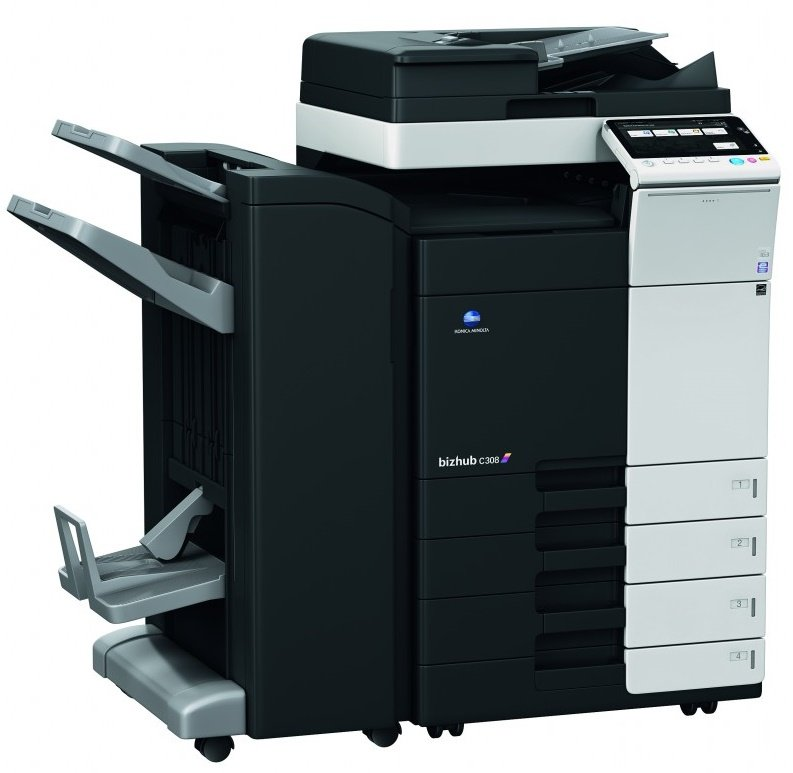 Konica Minolta Bizhub C368 Color Copier Printer Scanner 1